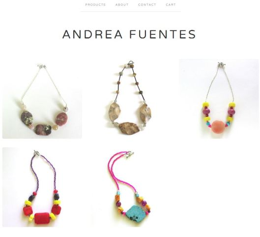 Andrea Fuentes on Big Cartel